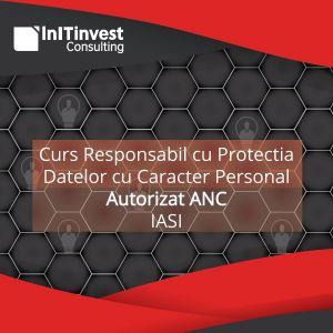 RESPONSABIL CU PROTECTIA DATELOR CU CARACTER PERSONAL, COD COR 242231, AUTORIZAT ANC - IASI