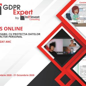 Curs Online - RESPONSABIL CU PROTECTIA DATELOR CU CARACTER PERSONAL, COD COR 242231, AUTORIZAT ANC - IASI